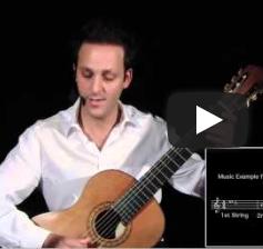 دورة تعلم الجيتار الكلاسيكي - الدرس الرابع عشر  - ج١ -دوزان الجيتار